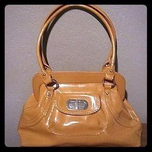 Franco Sarto Medium Sized Western Brown Handbag